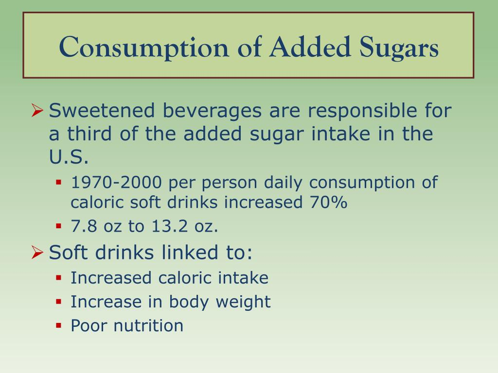 Consumption of Added Sugars