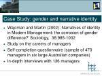 case study gender and narrative identity