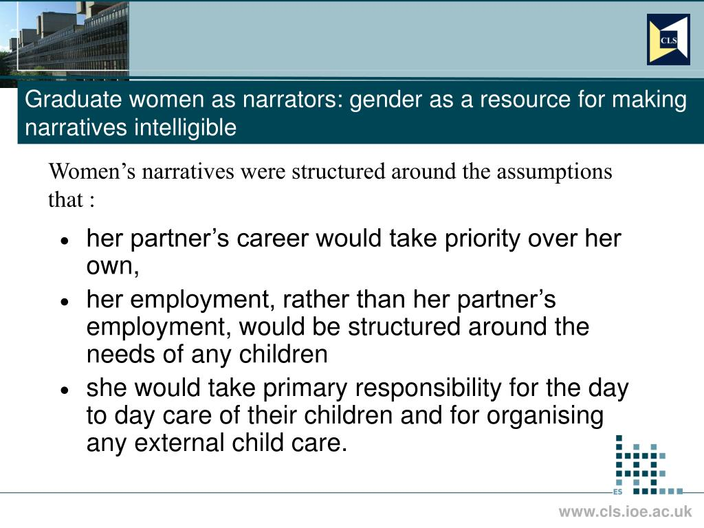 Graduate women as narrators: gender as a resource for making narratives intelligible