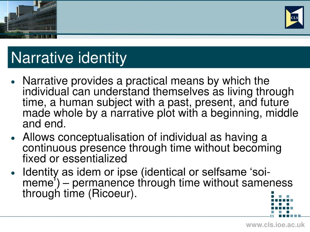 Narrative identity
