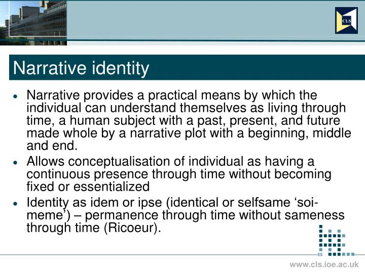 Narrative identity l.jpg