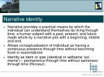 narrative identity