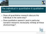 the individual in quantitative qualitative research5
