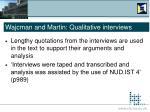 wajcman and martin qualitative interviews16