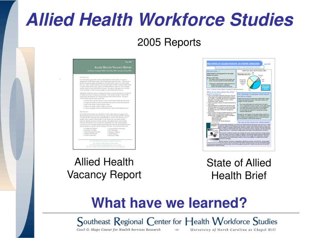 State of Allied Health Brief