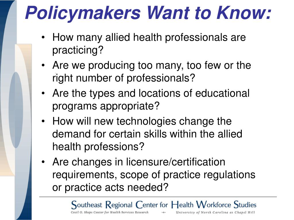 Policymakers Want to Know: