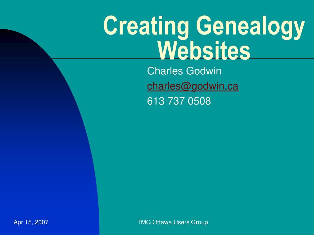 Creating Genealogy Websites