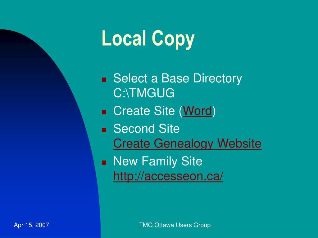 Local Copy