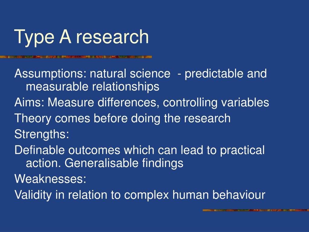 type of educational research Details as they apply to special education the op- erating assumptions of this  task force were that different types of research questions are important for  building.