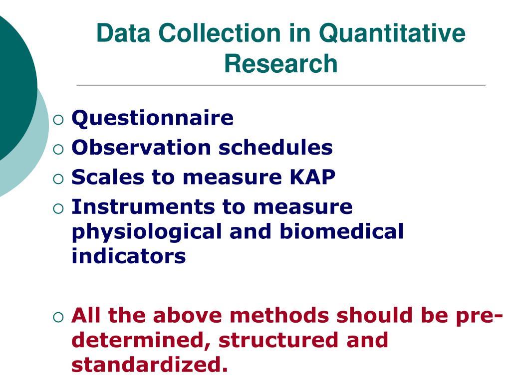 Data Collection in Quantitative Research