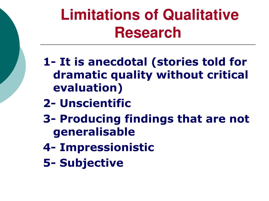 Limitations of Qualitative Research