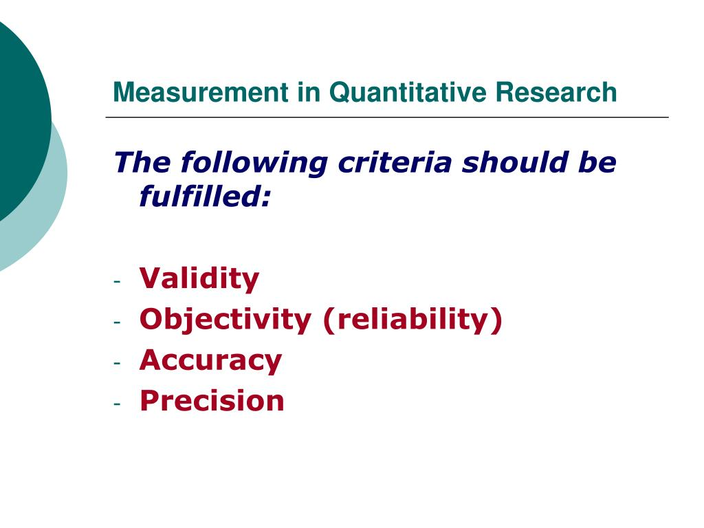 Measurement in Quantitative Research