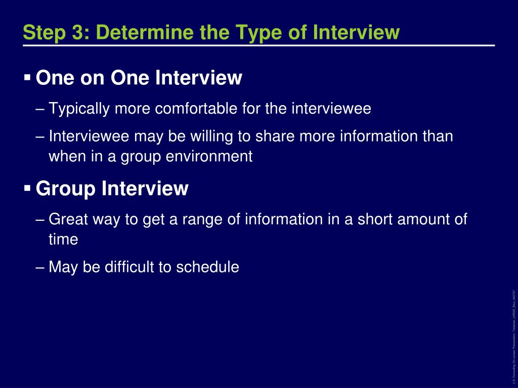 Step 3: Determine the Type of Interview