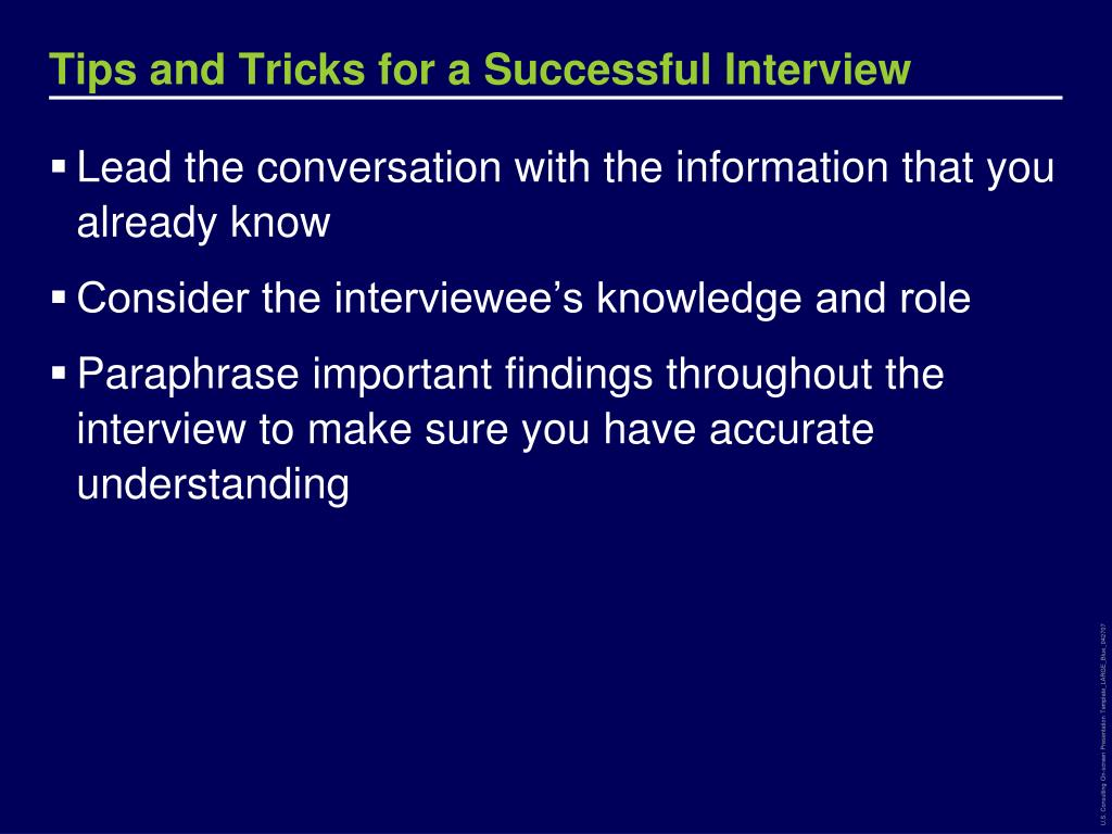 Tips and Tricks for a Successful Interview