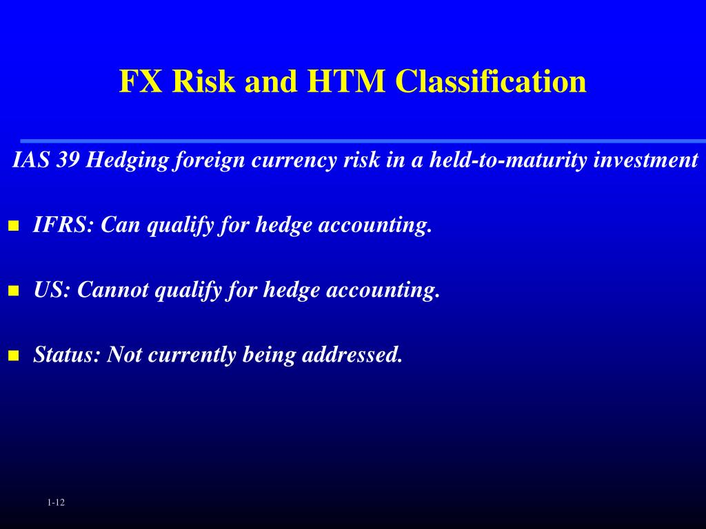 FX Risk and HTM Classification