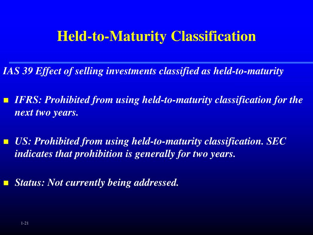 Held-to-Maturity Classification