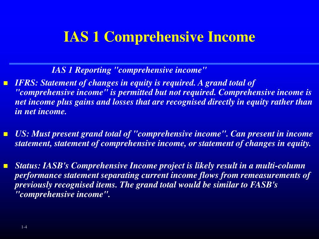 IAS 1 Comprehensive Income