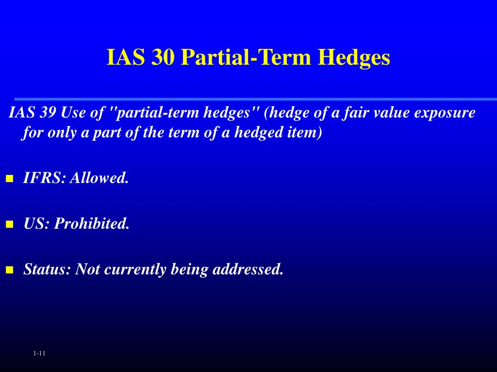 IAS 30 Partial-Term Hedges