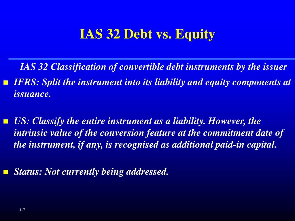 IAS 32 Debt vs. Equity