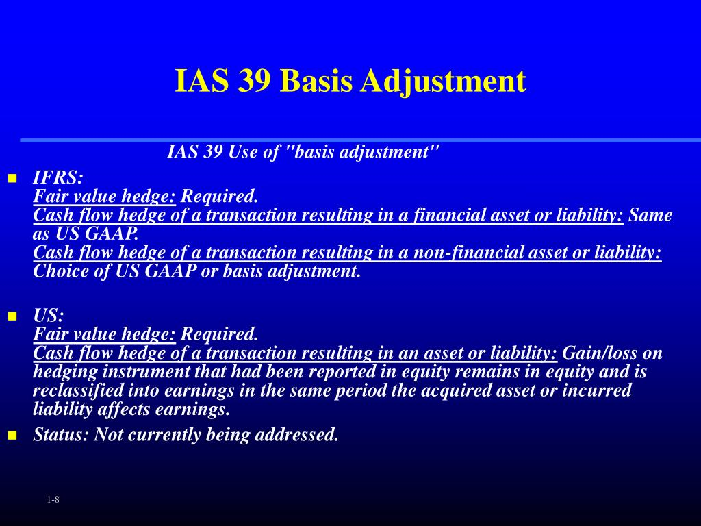 IAS 39 Basis Adjustment