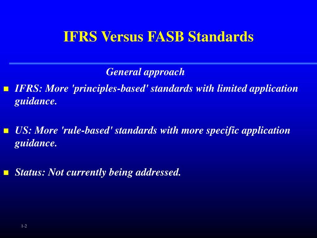 IFRS Versus FASB Standards