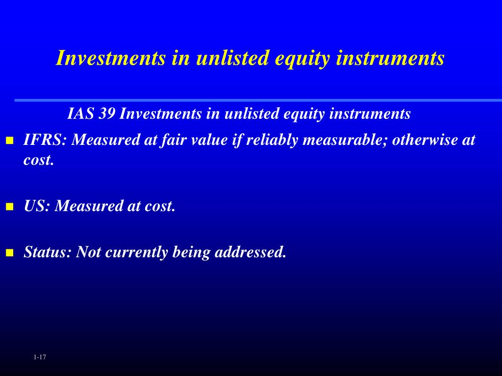 Investments in unlisted equity instruments