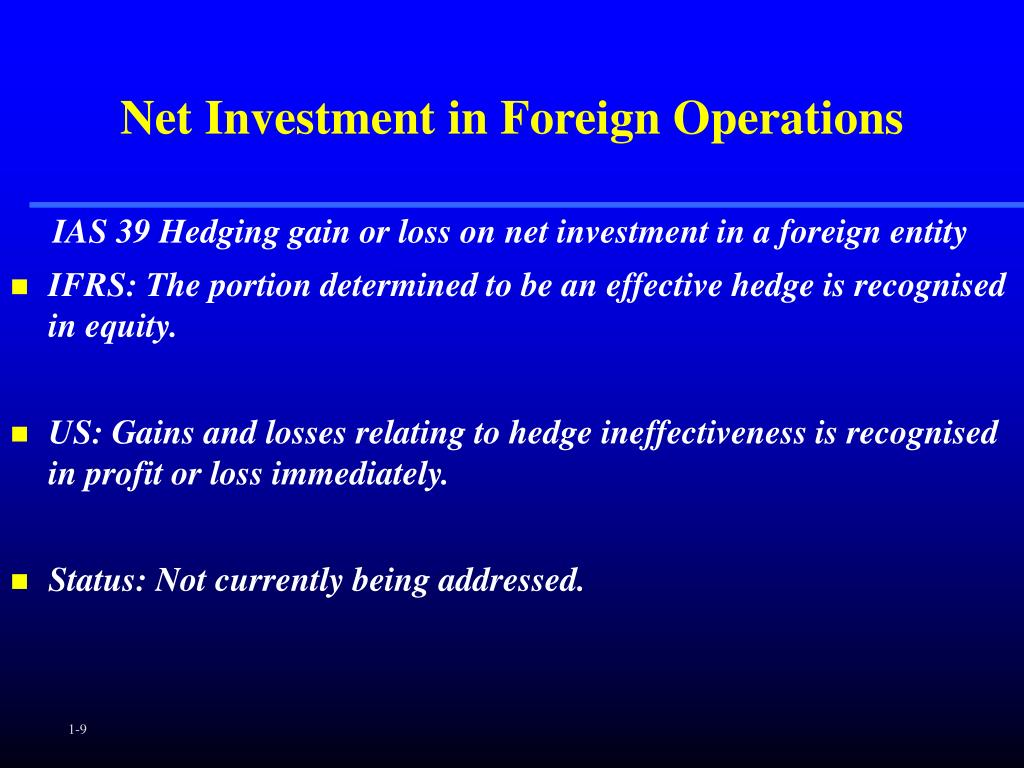 Net Investment in Foreign Operations