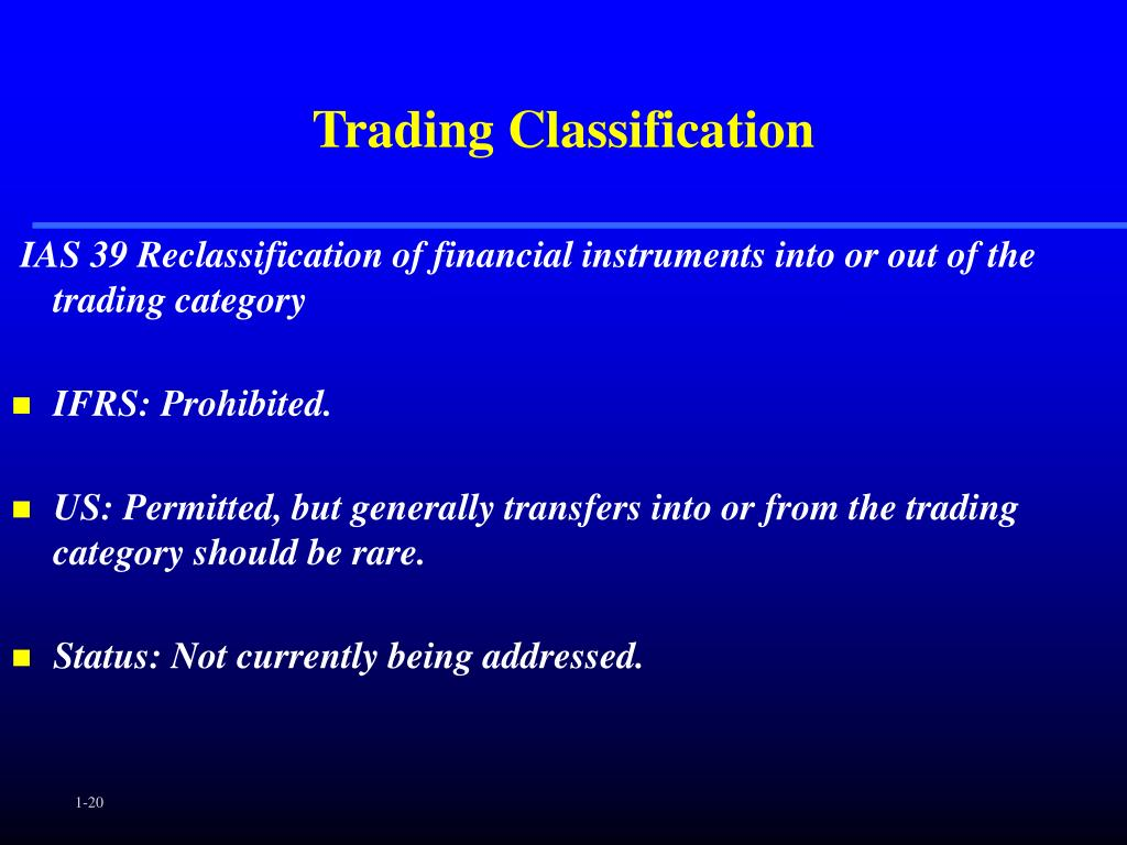 Trading Classification