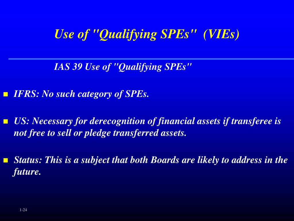 "Use of ""Qualifying SPEs""  (VIEs)"