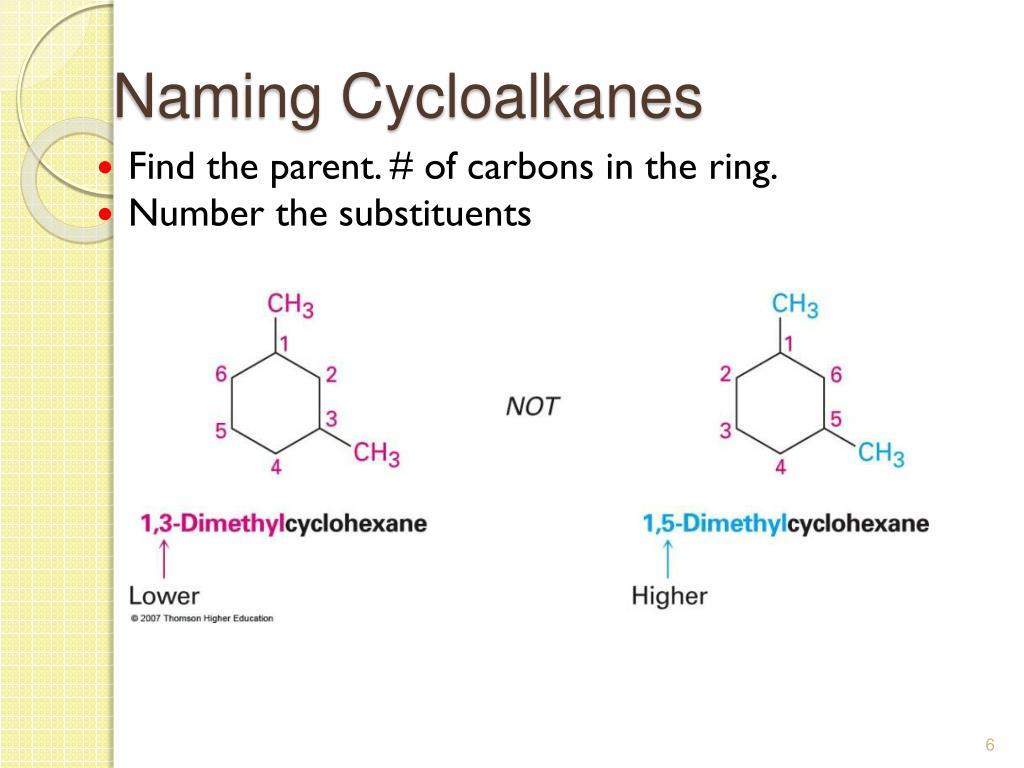 Naming Cycloalkanes