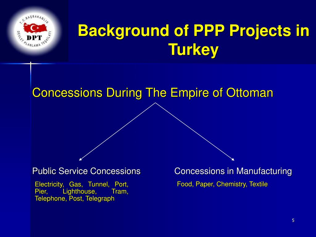 Background of PPP Projects in Turkey