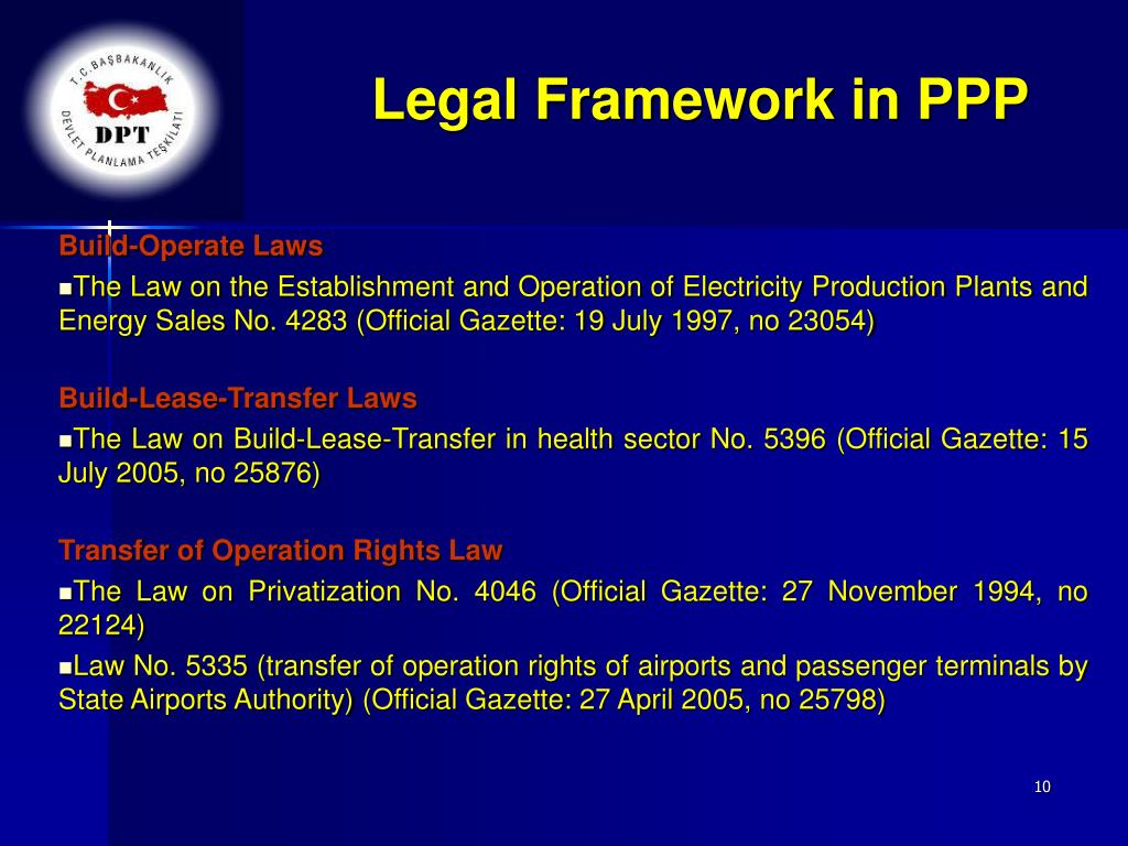Legal Framework in PPP