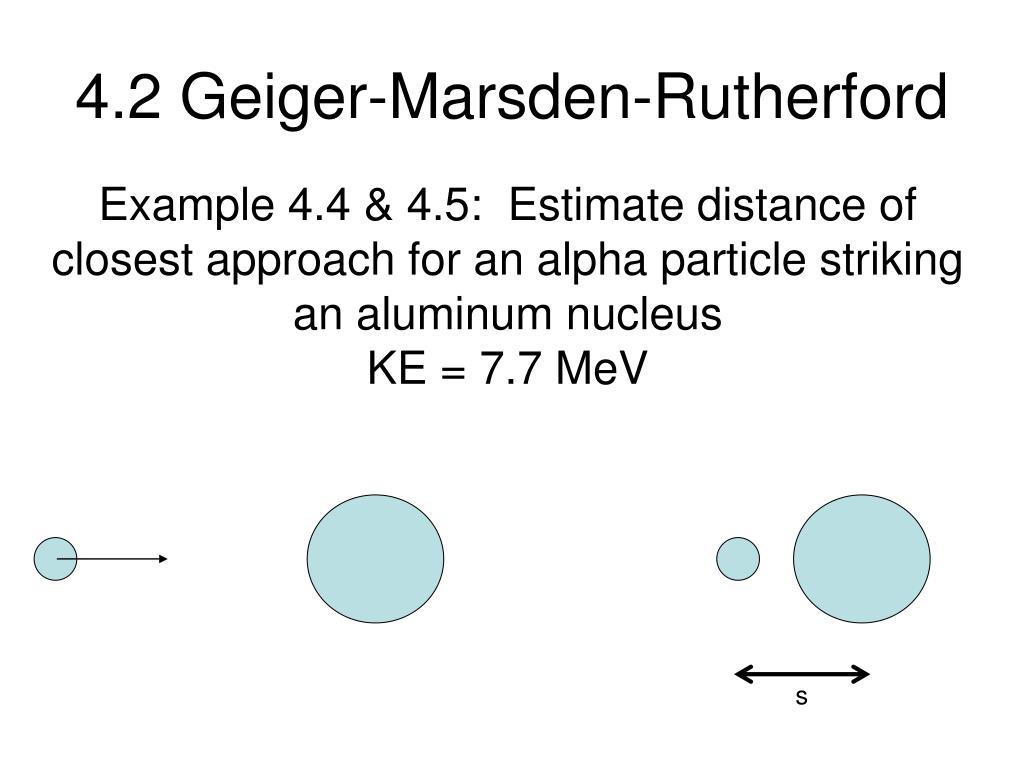4.2 Geiger-Marsden-Rutherford