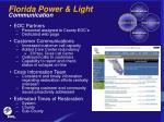 florida power light communication