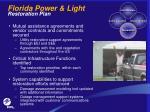 florida power light restoration plan15