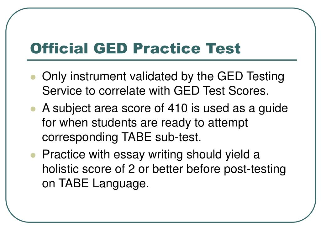 Official GED Practice Test
