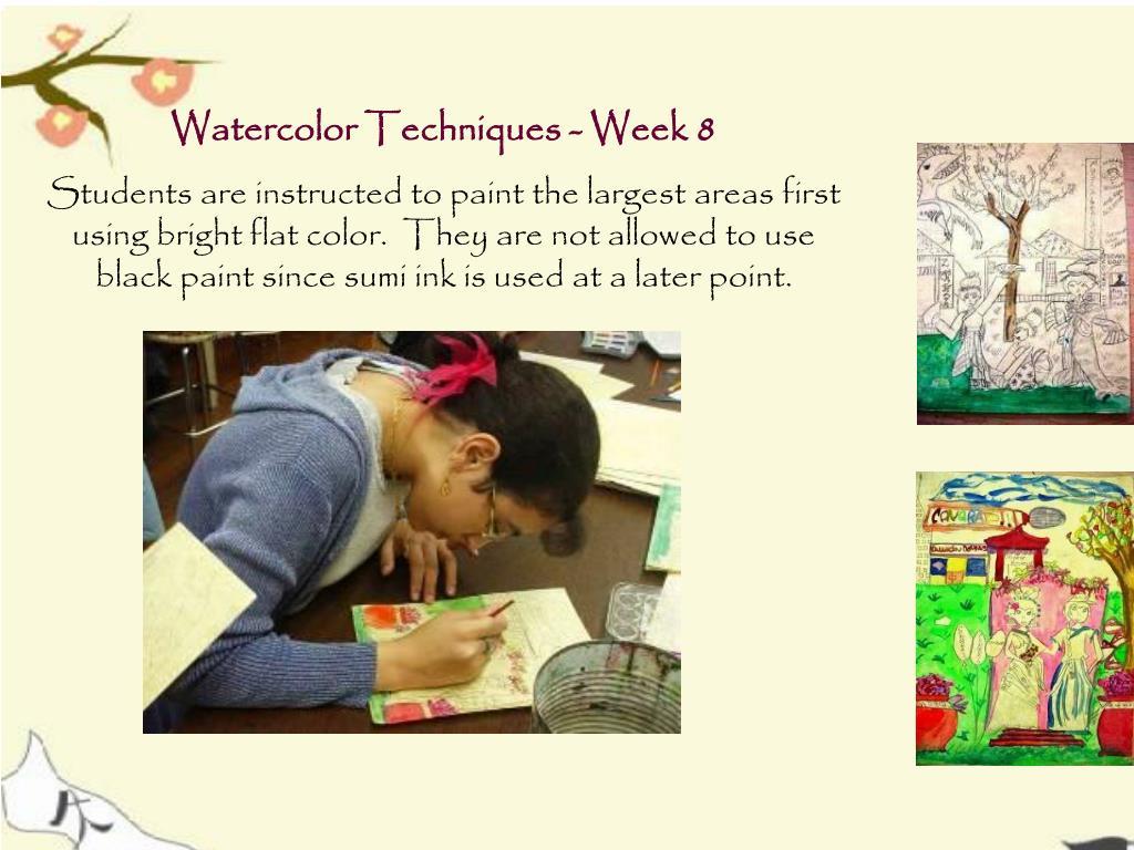 Watercolor Techniques - Week 8