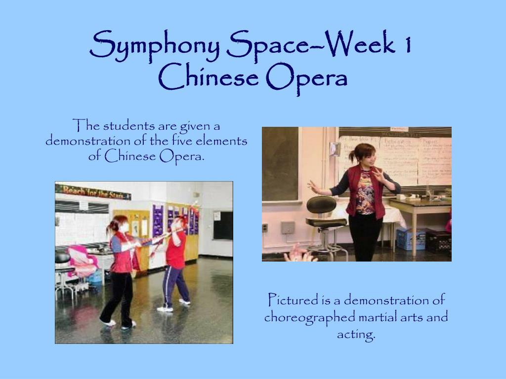 Symphony Space–Week 1