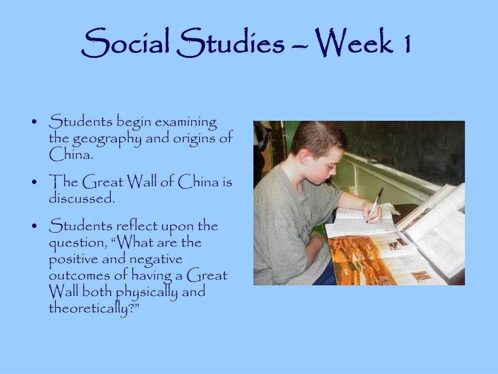 Social Studies – Week 1