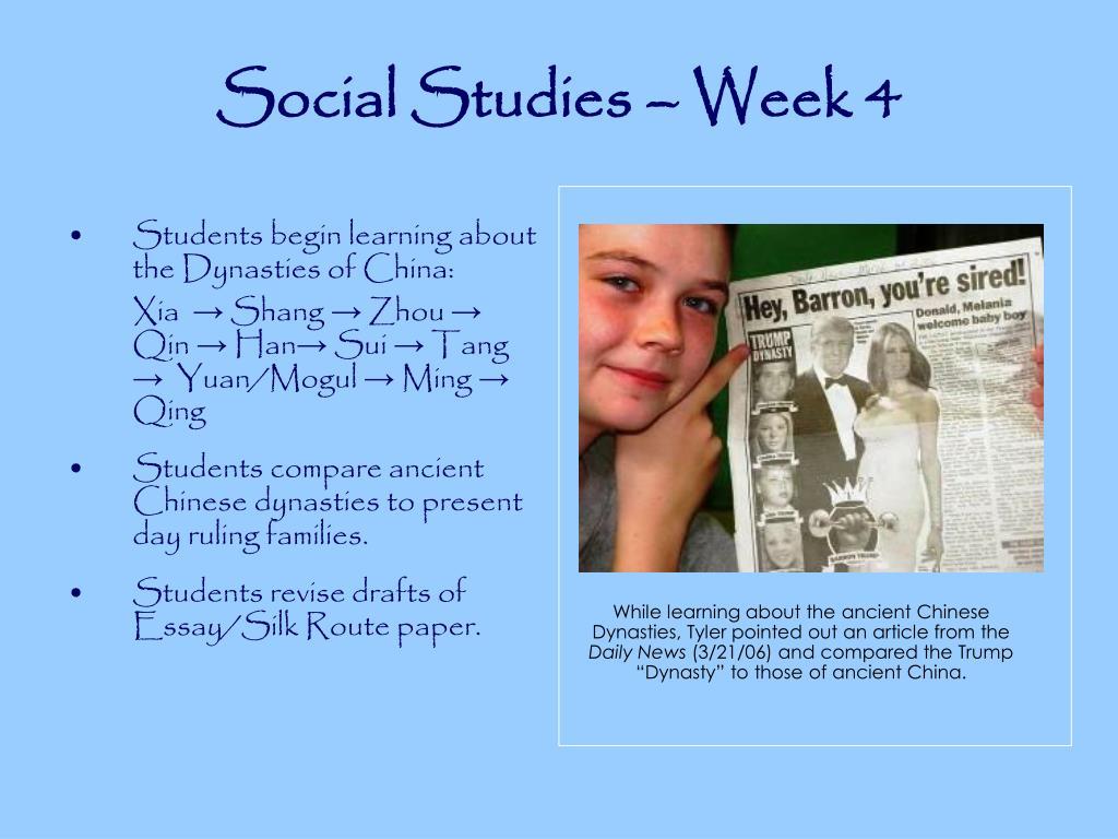 Social Studies – Week 4