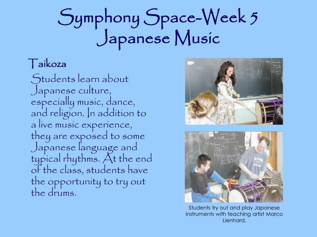 Symphony Space-Week 5