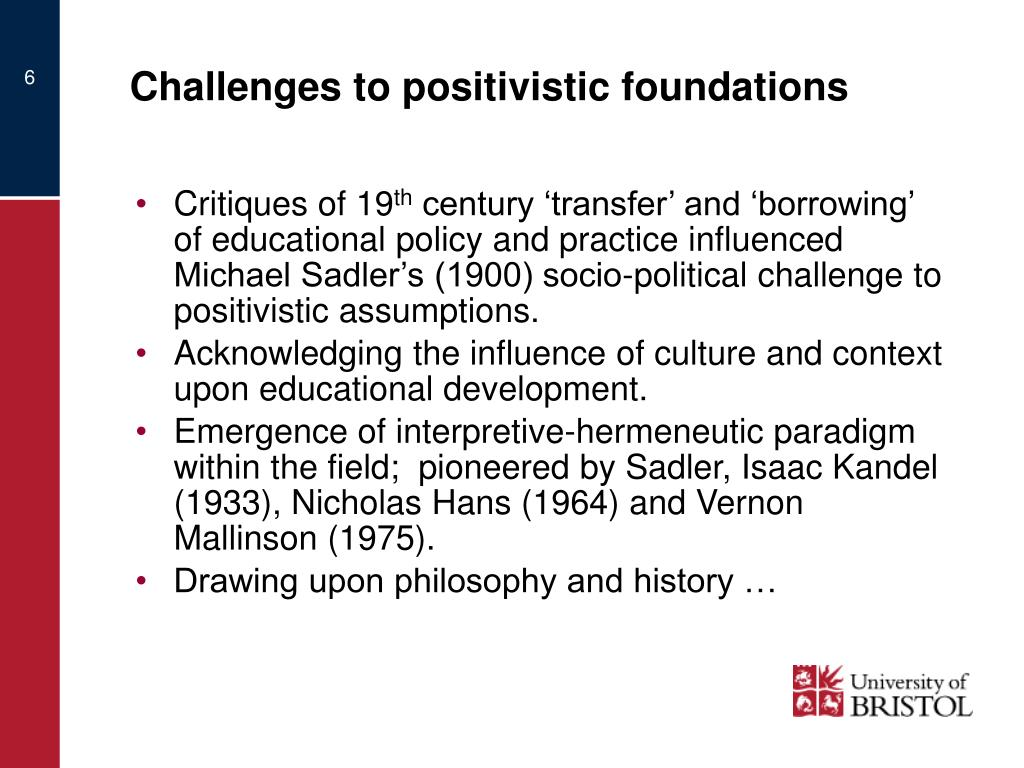 Challenges to positivistic foundations