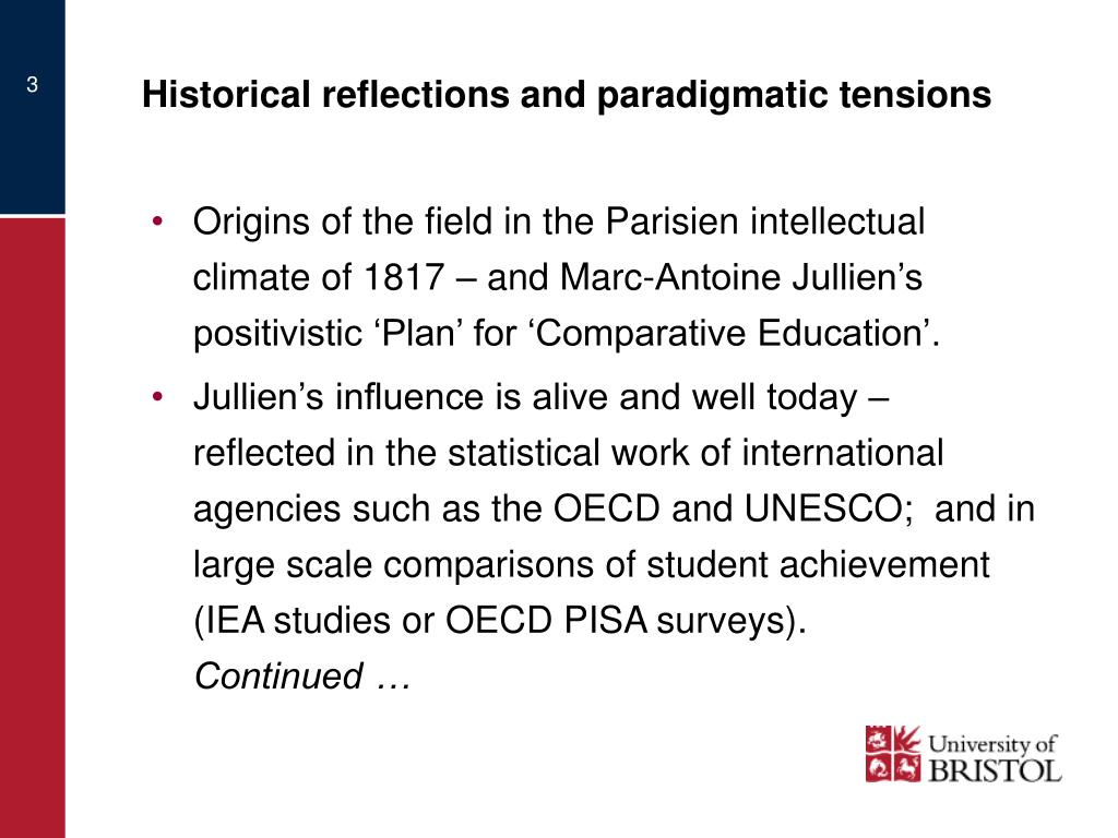 Historical reflections and paradigmatic tensions