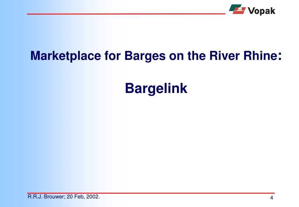Marketplace for Barges on the River Rhine