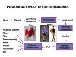 polylactic acid pla for plastics production