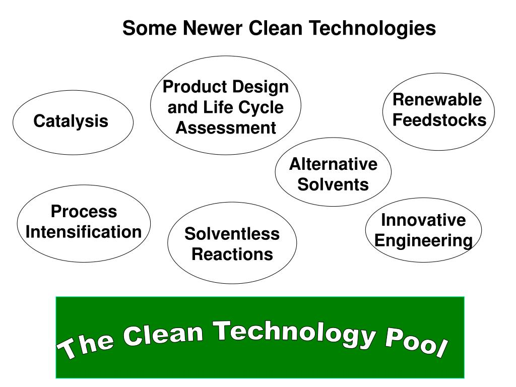 Some Newer Clean Technologies
