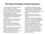 the twelve principles of green chemistry