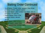 batting order continued