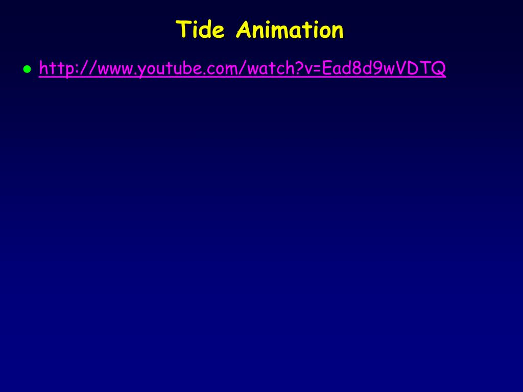 Tide Animation