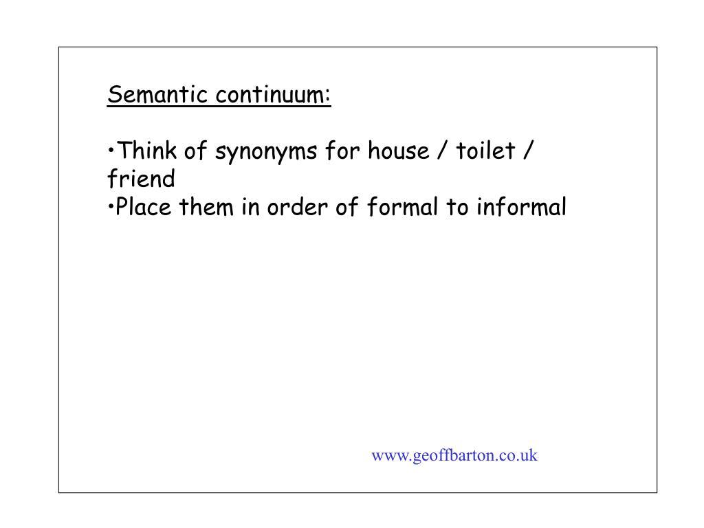 Semantic continuum: